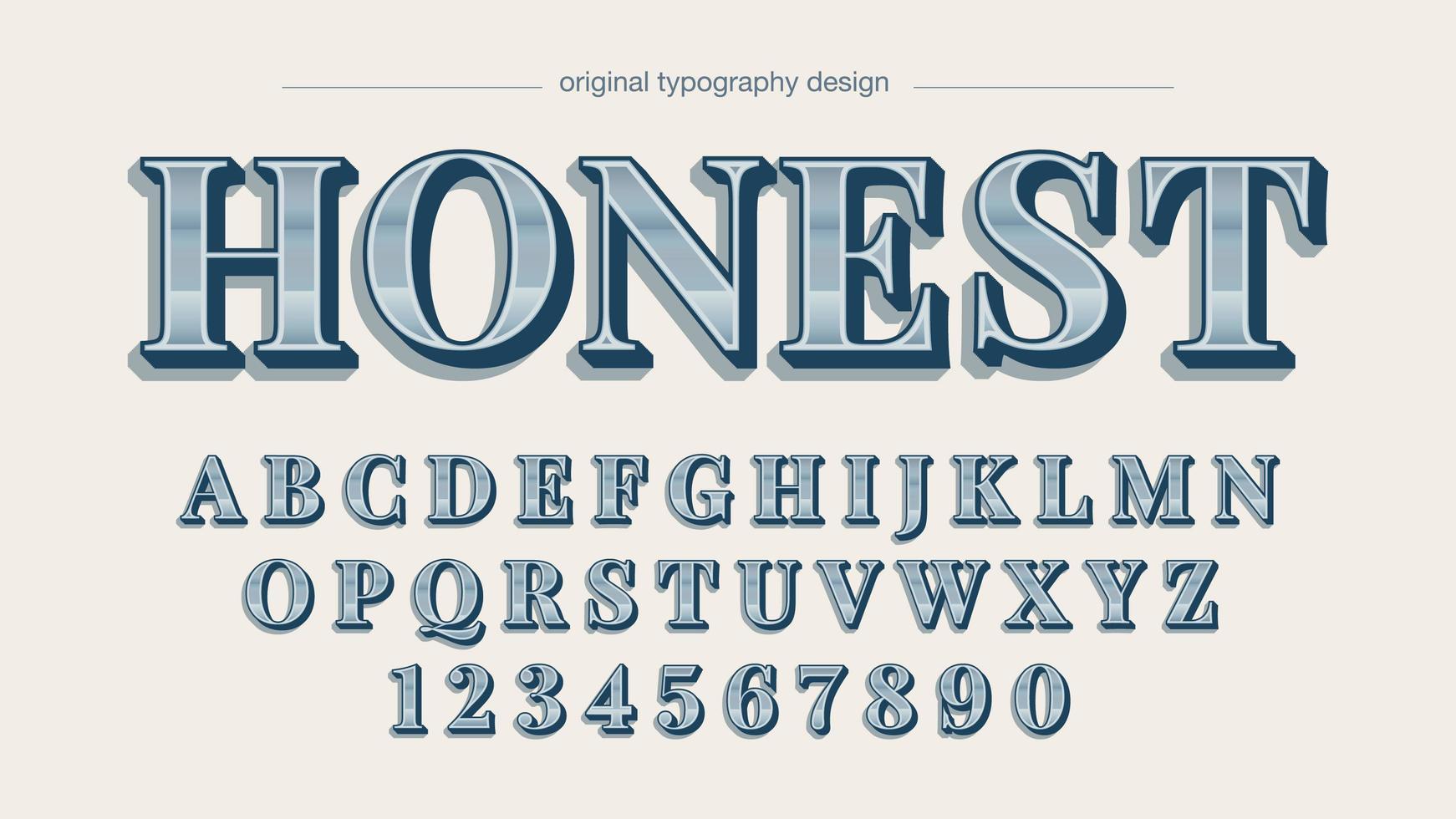 elegante alfabeto sans serif in argento cromato vettore