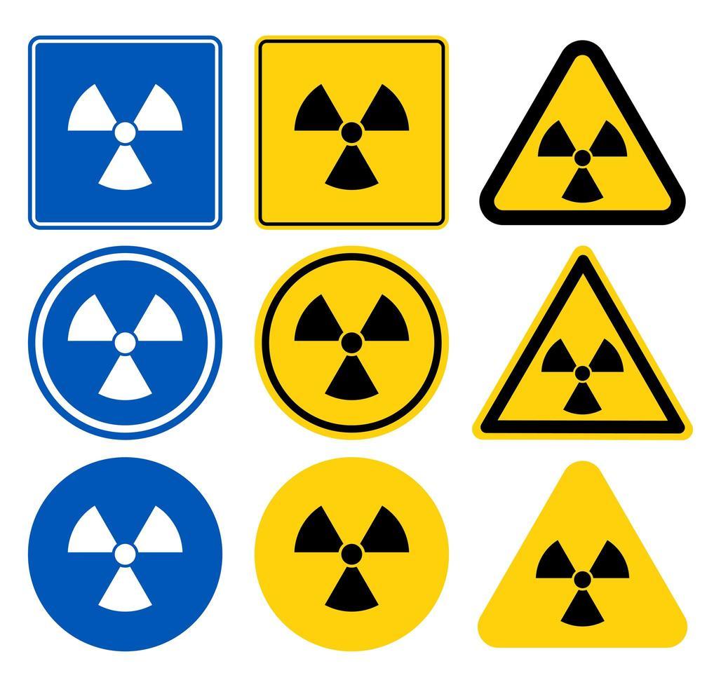 Radiation Warning Sign Set vector