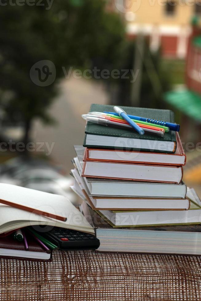 pen pencil study textbooks photo