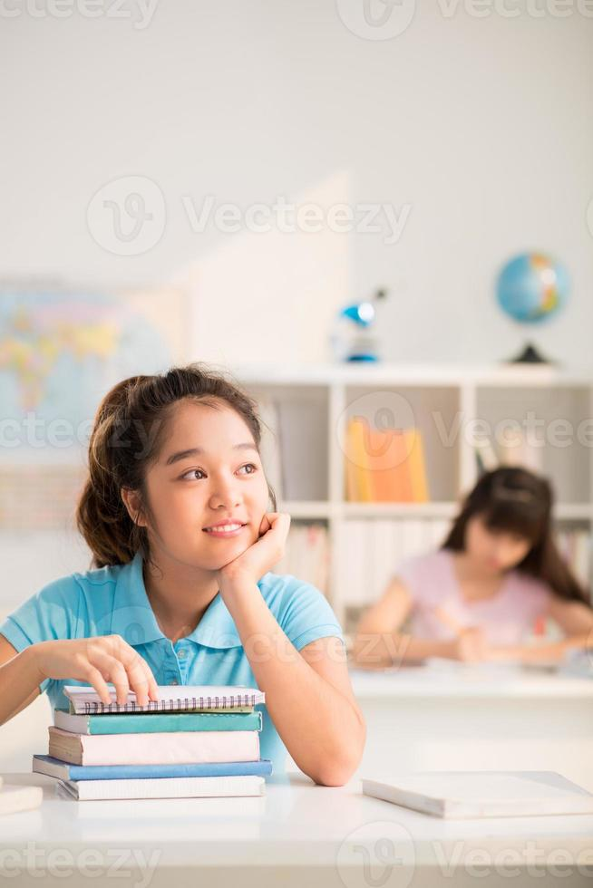 Daydreaming in class photo