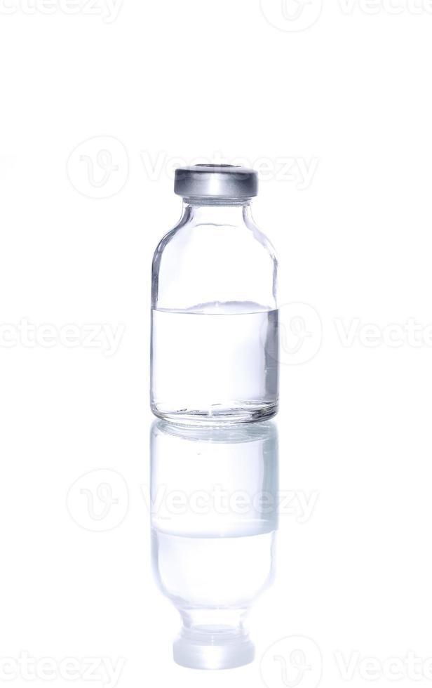 vial de medicina de vidrio para inyectar medicina foto