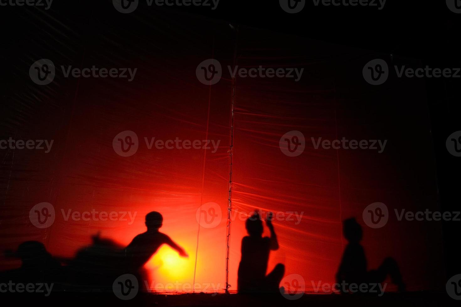 silhouette of devil photo
