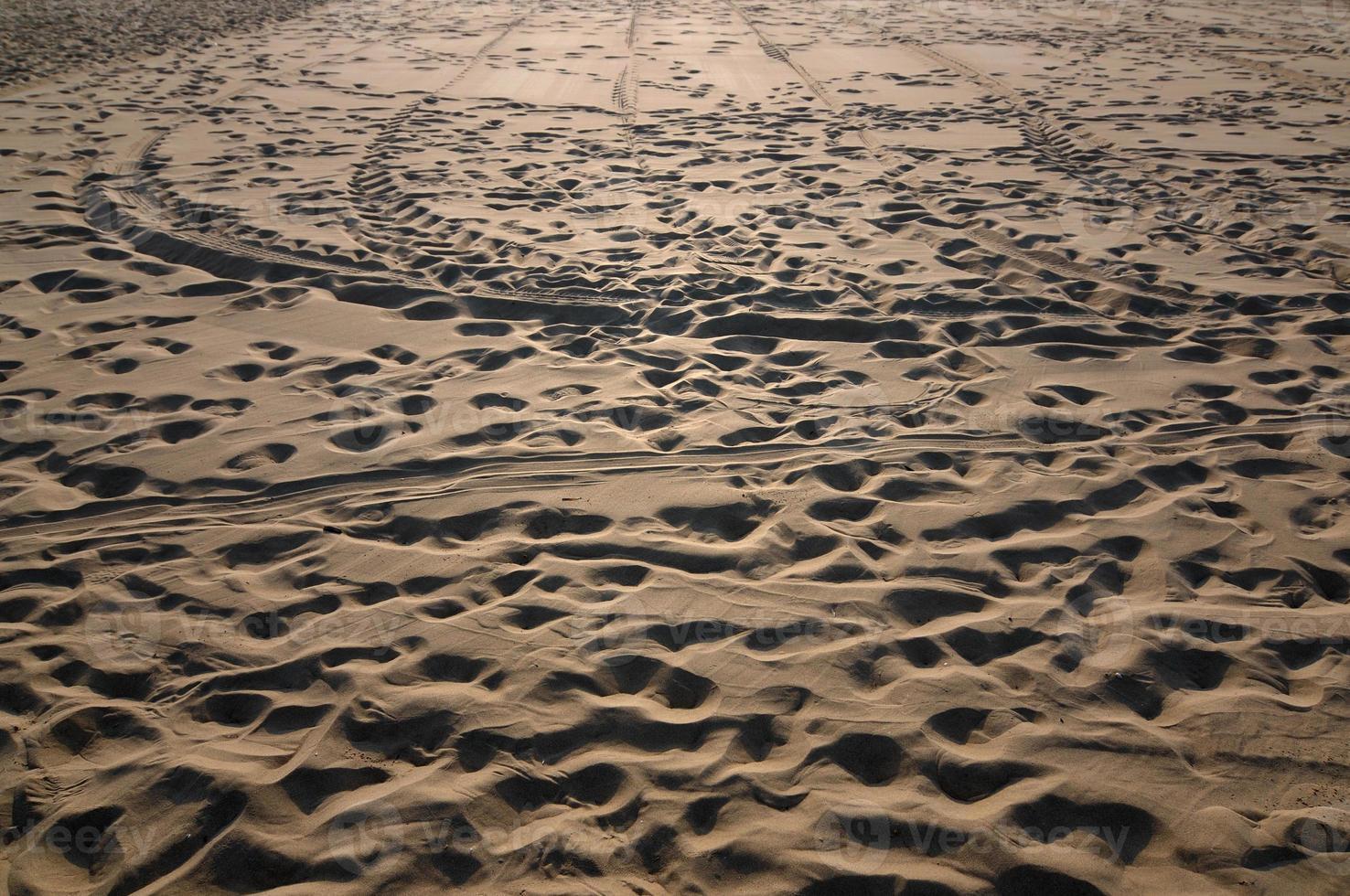 Tracks on sand photo
