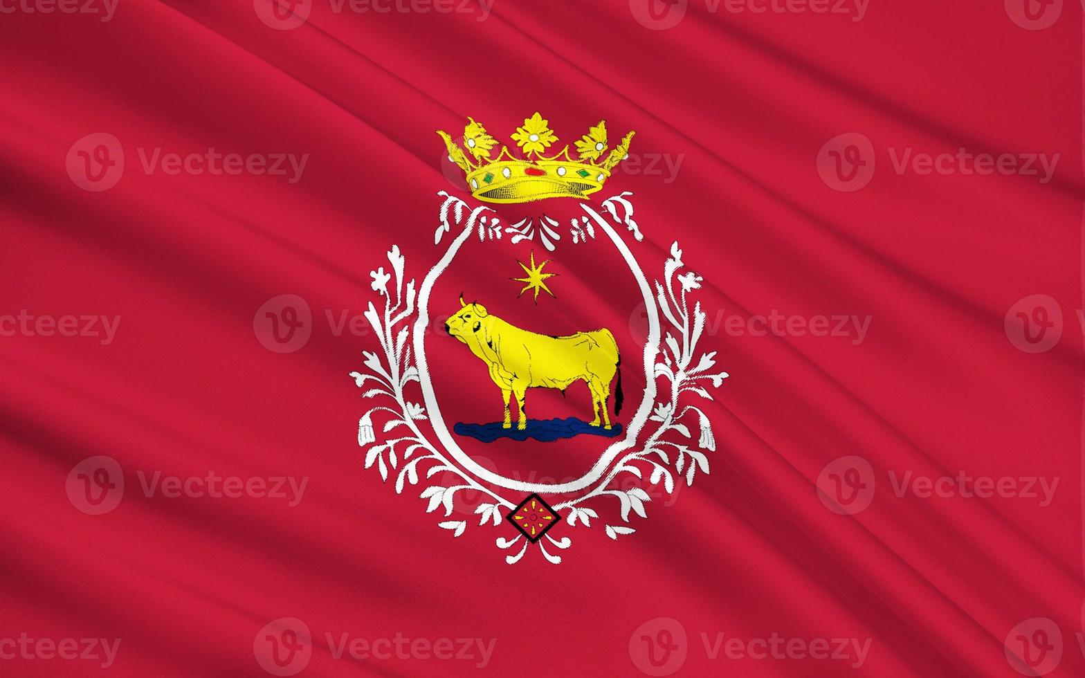 Flag of Teruel - a city in Spain photo