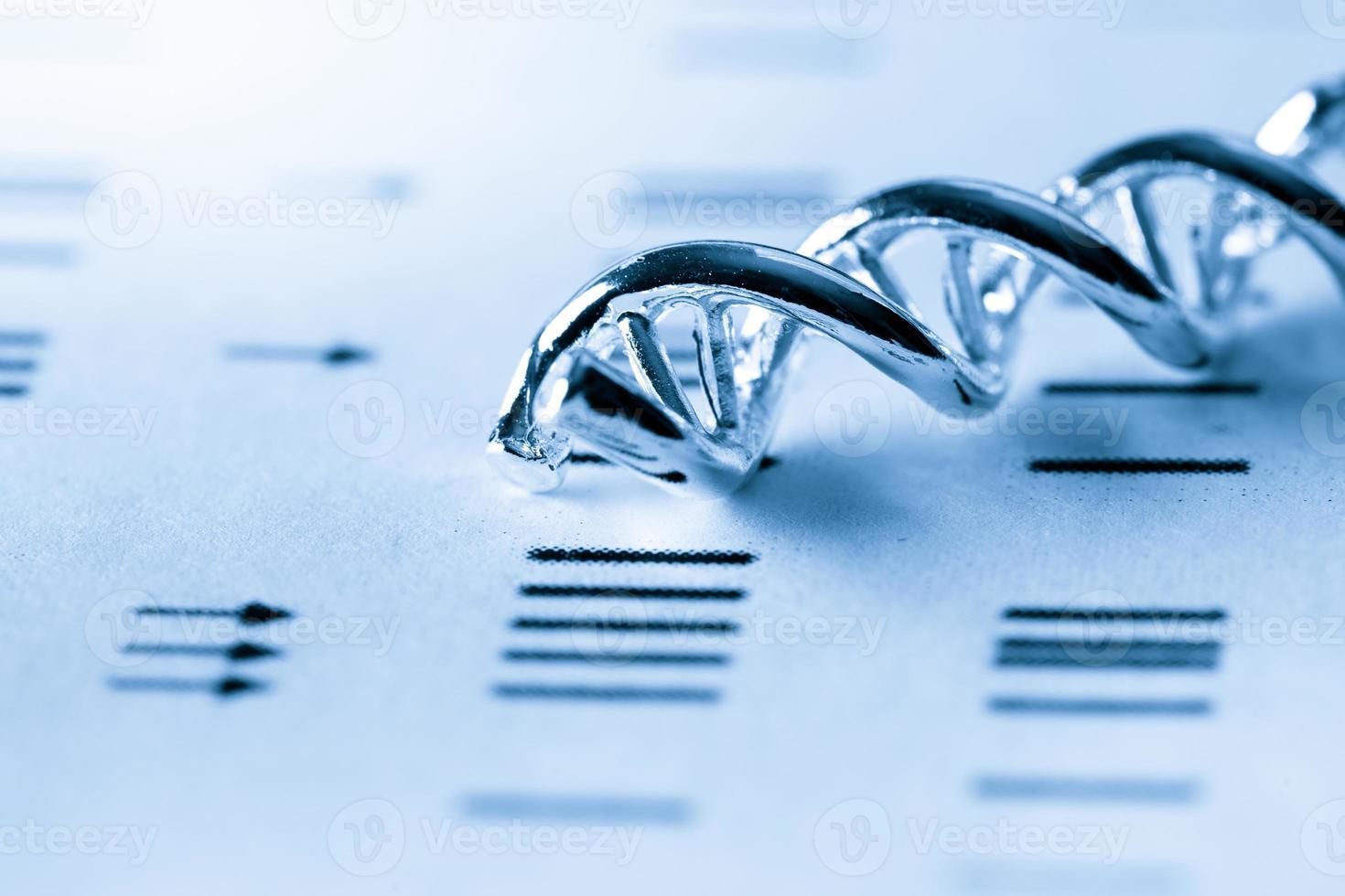 ADN, prueba de laboratorio molecular foto