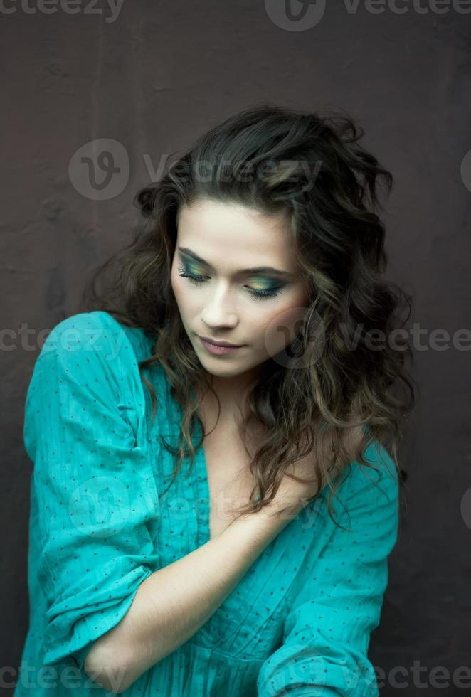 Art portrait of young woman photo