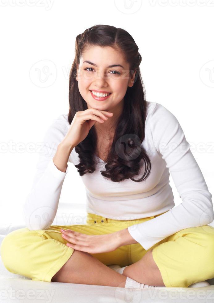 chica alegre foto