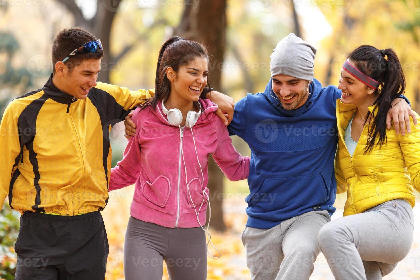 Autumn jogging photo