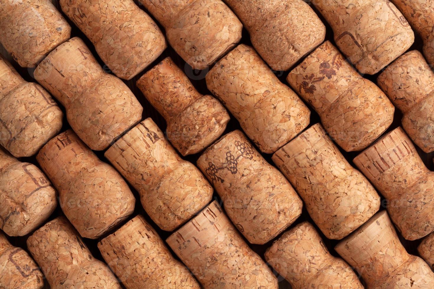 Champagne wine corks texture photo