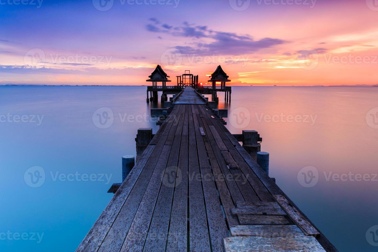 Wood bridge photo