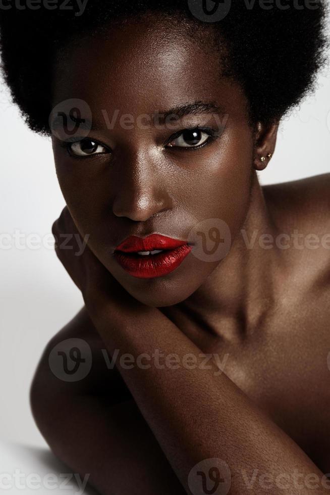 beauty black woman photo