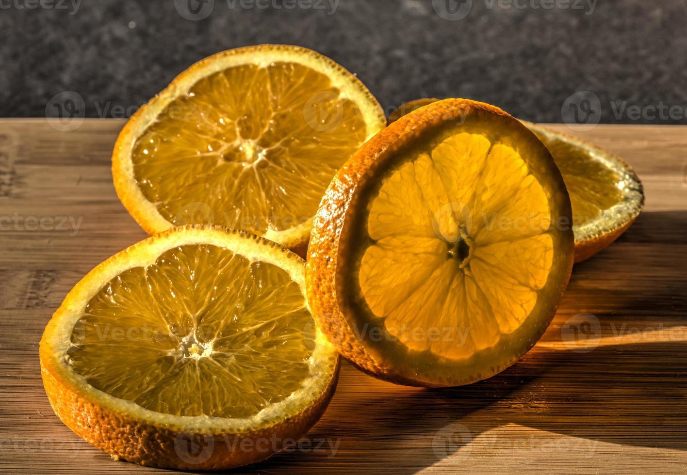 Sliced oranges photo