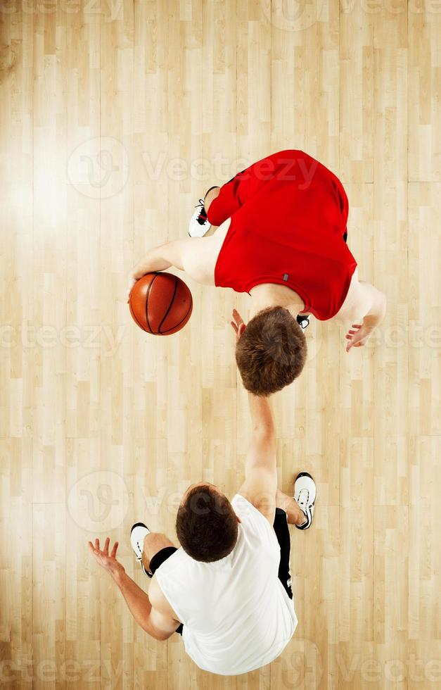 Basketball players in action photo