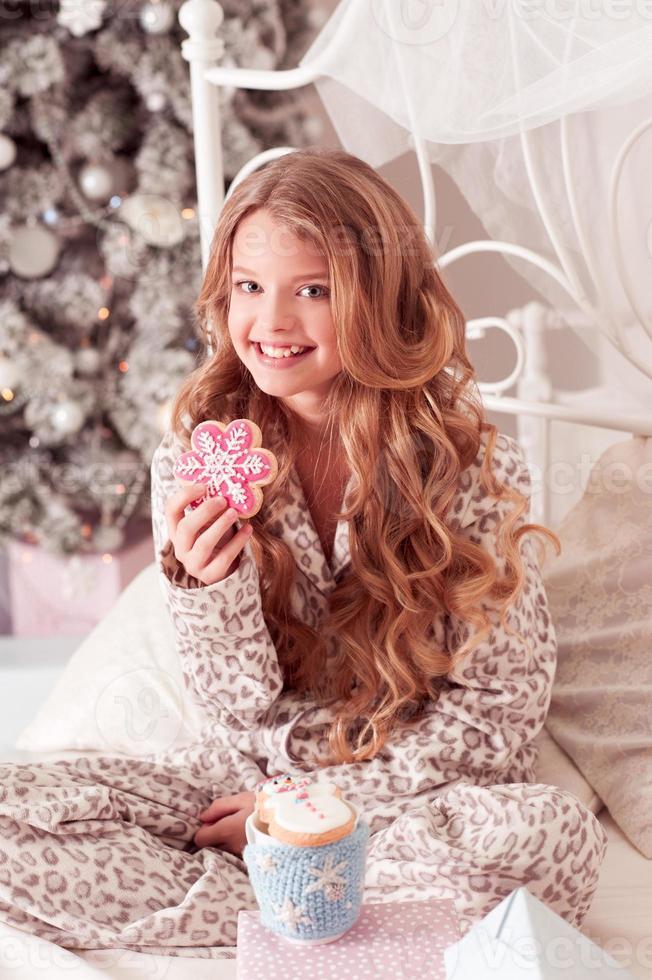 Cheerful teen girl photo