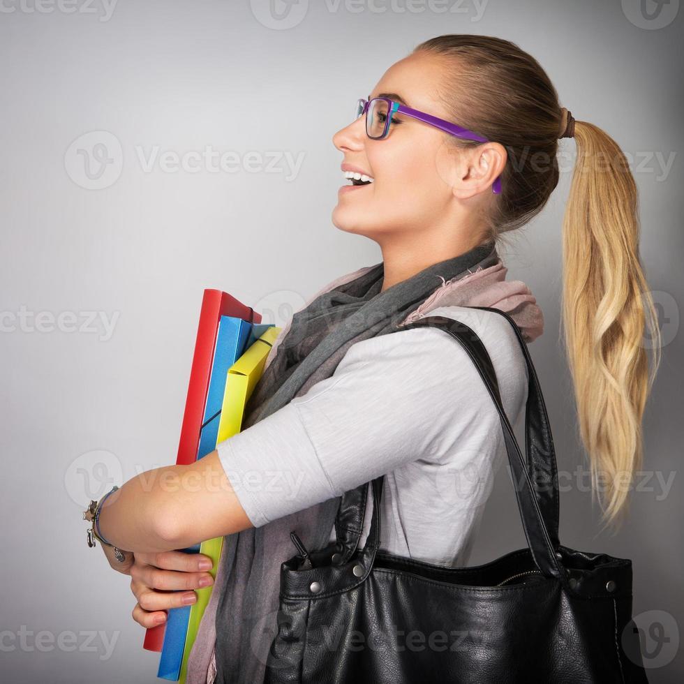Cheerful student girl photo