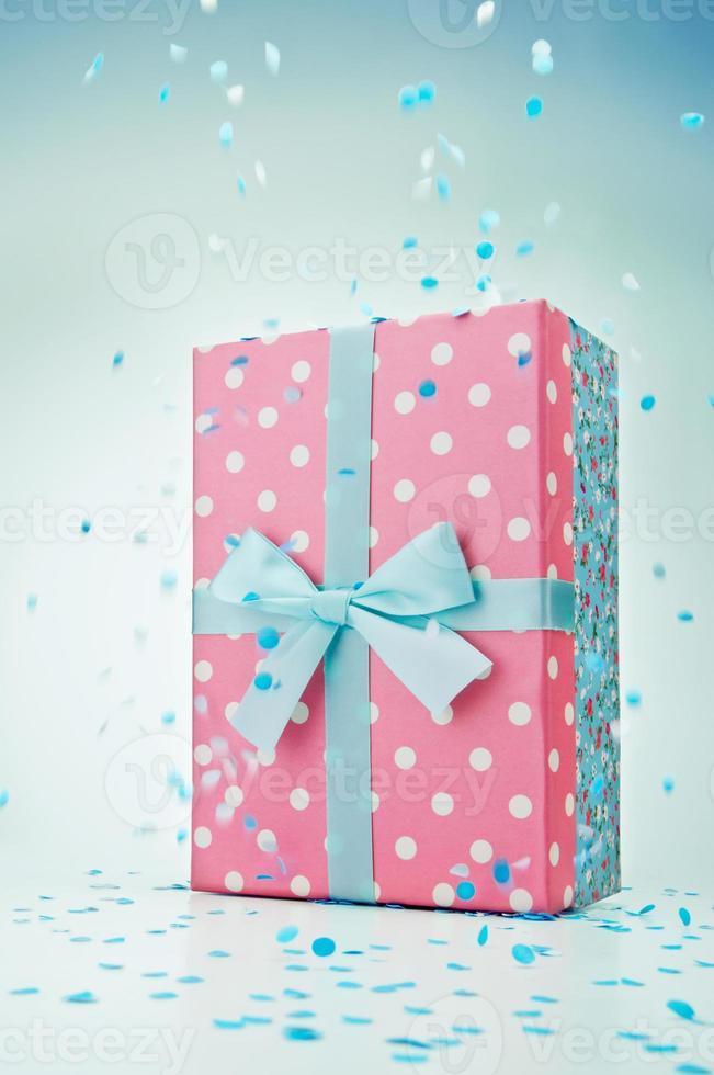 Polka dot gift box photo