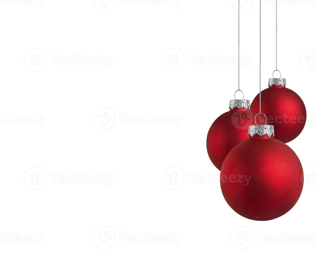 Baubles with copy space photo