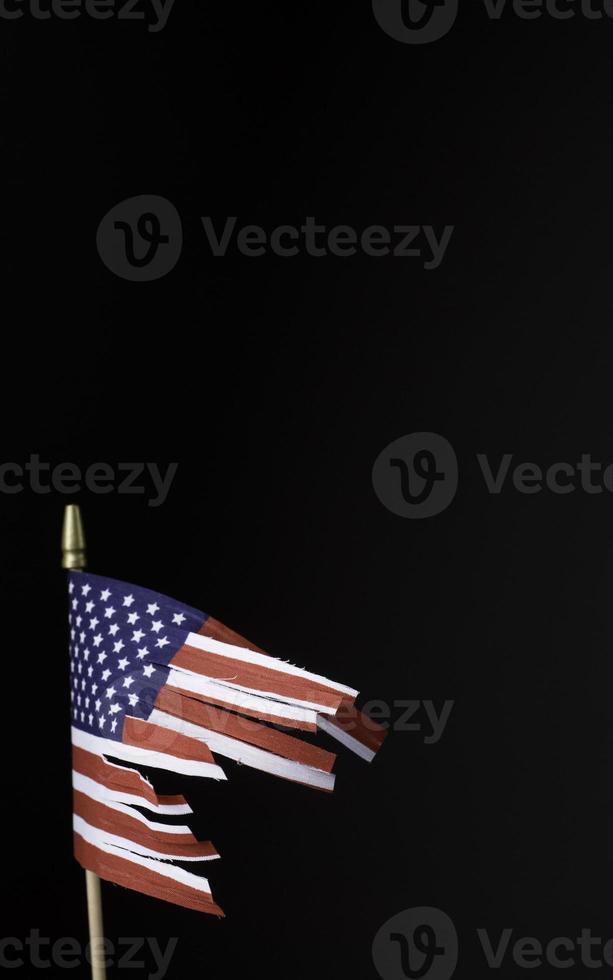 corte la bandera con espacio de copia foto