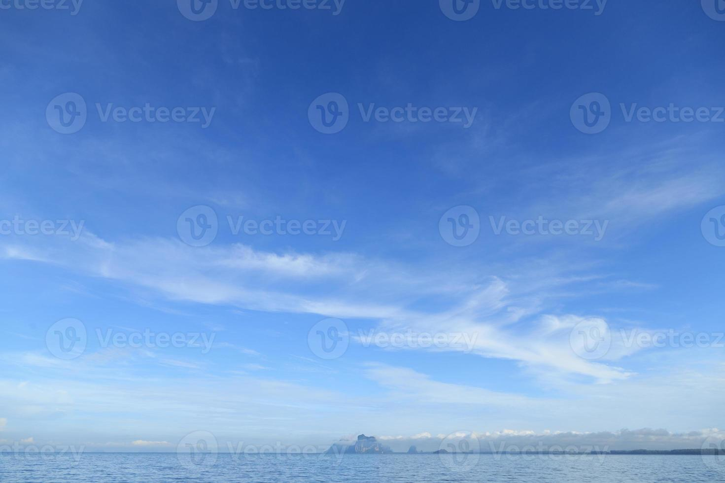 Abstract blue sky background with copy space. photo