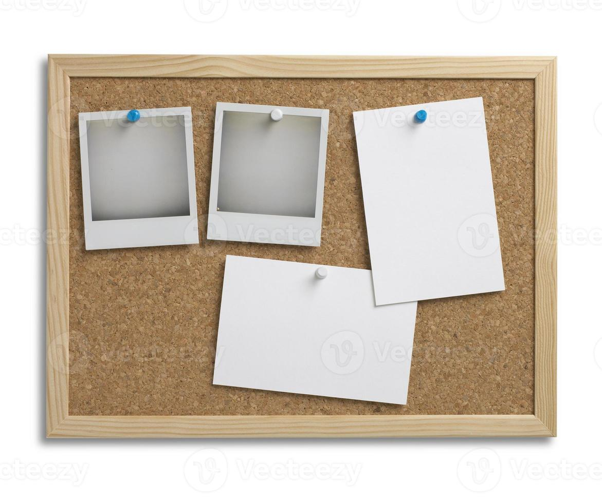 cork bulletin notice board copy space with clipping path photo