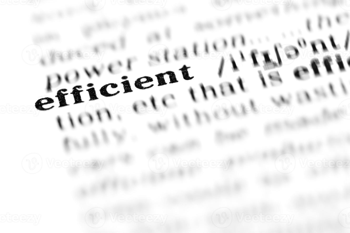 eficiente (el proyecto del diccionario) foto
