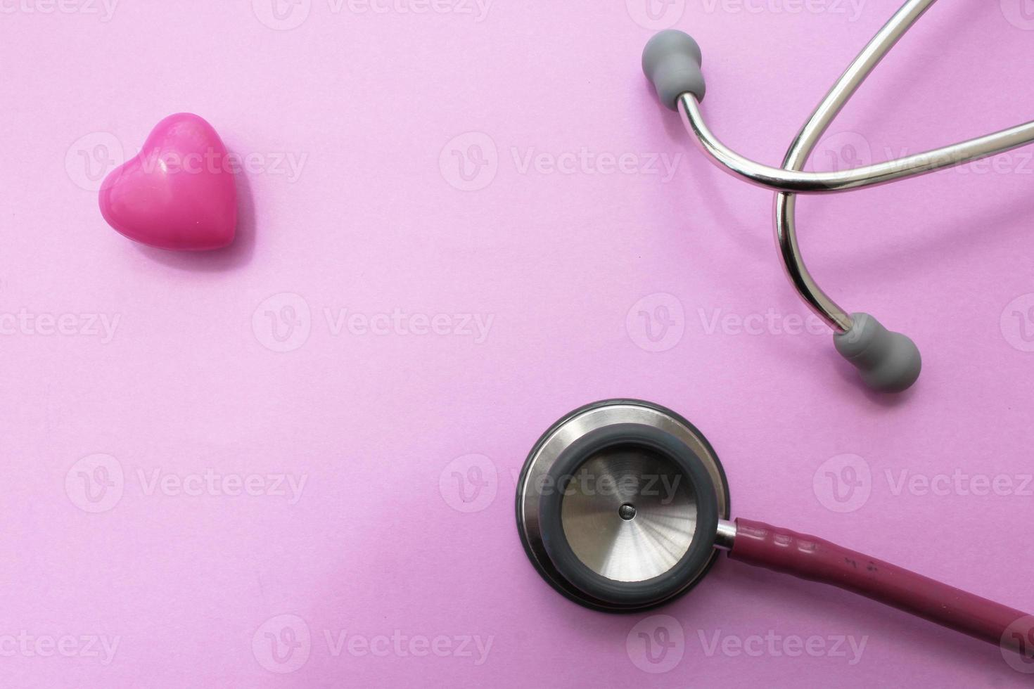 Stethoscope and heart photo