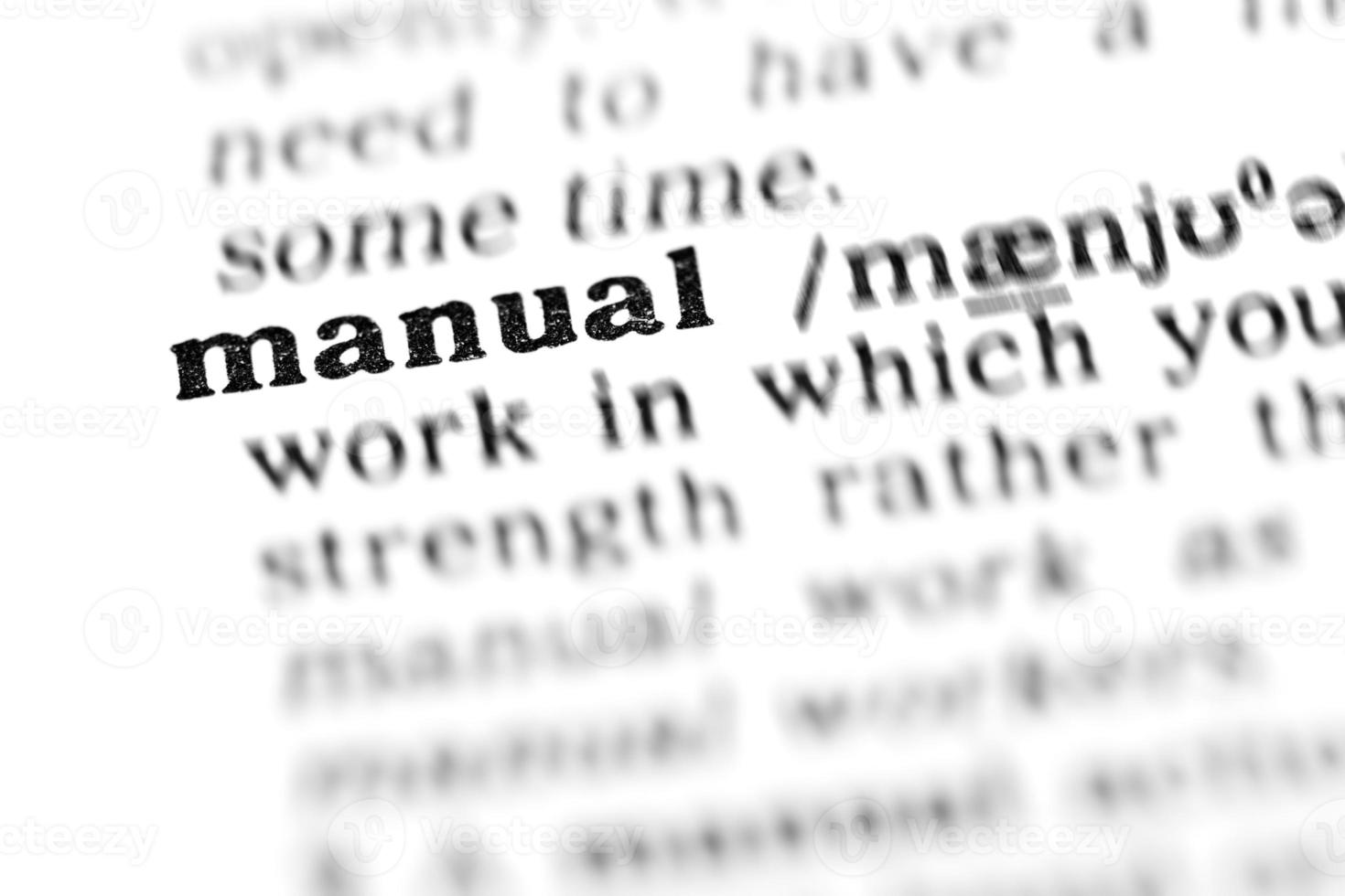 manual (the dictionary project) photo