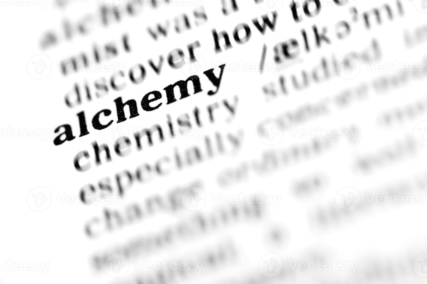 alquimia (el proyecto de diccionario) foto