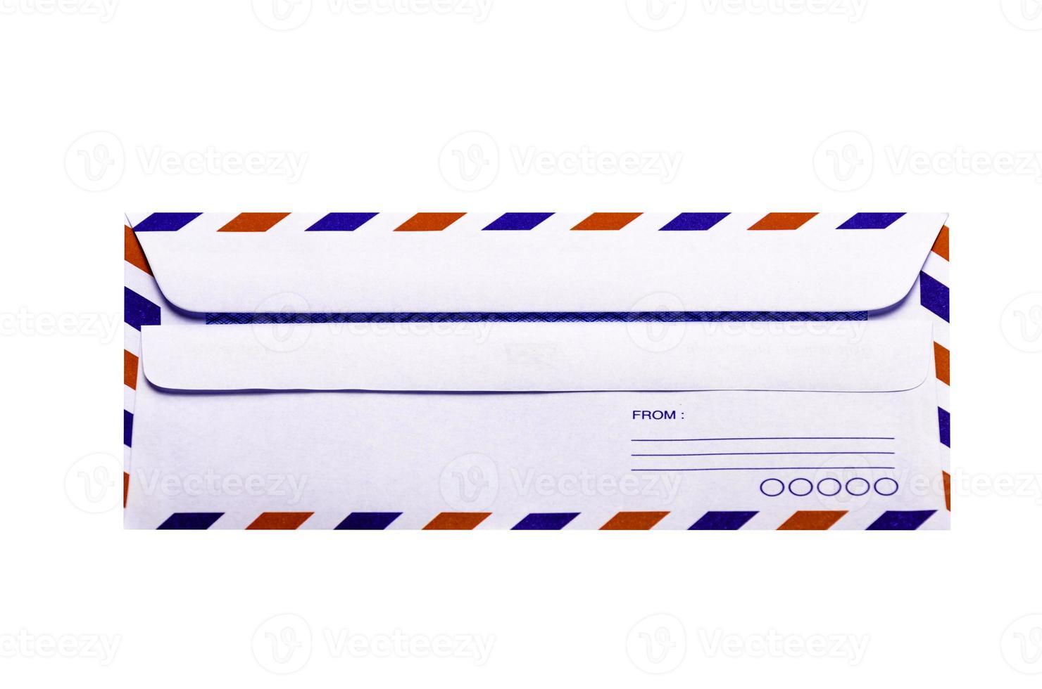 White and  vintage Envelope photo