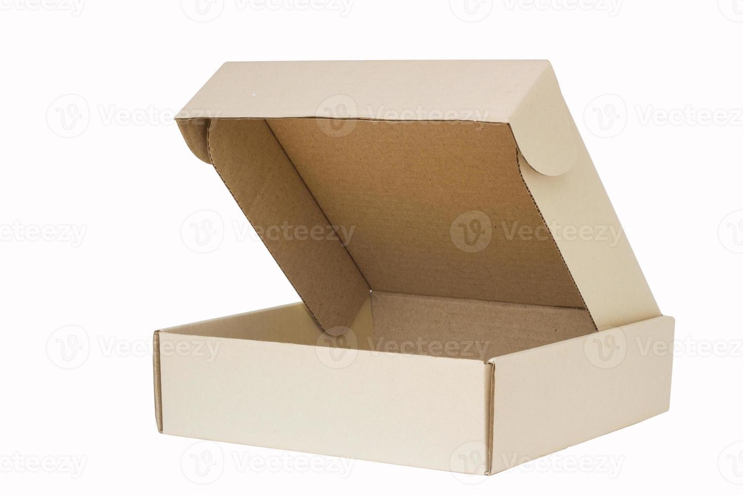 Cardboard box with flip open lid photo