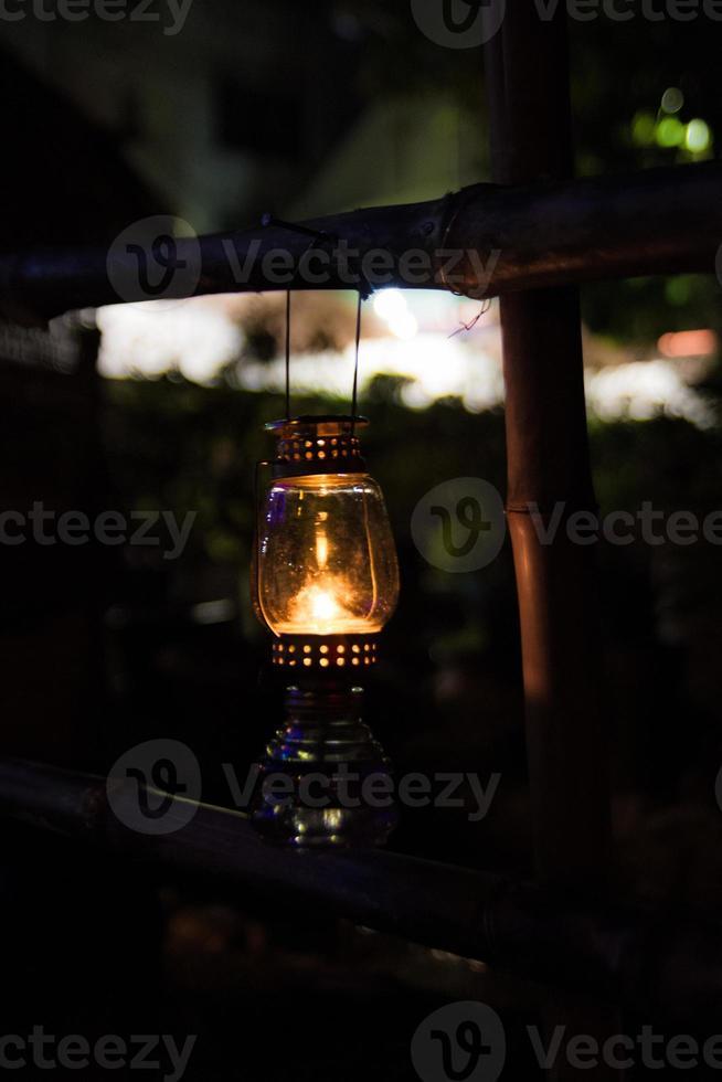 Antique Oil Lamp photo