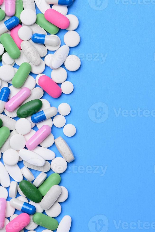 Assorted Pills with Copy Space photo