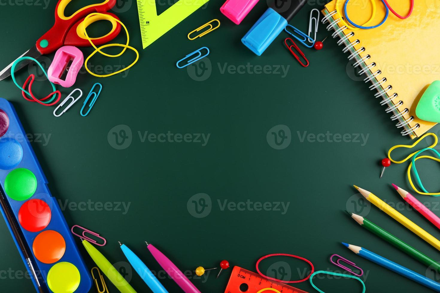 School supplies, background with copy space photo