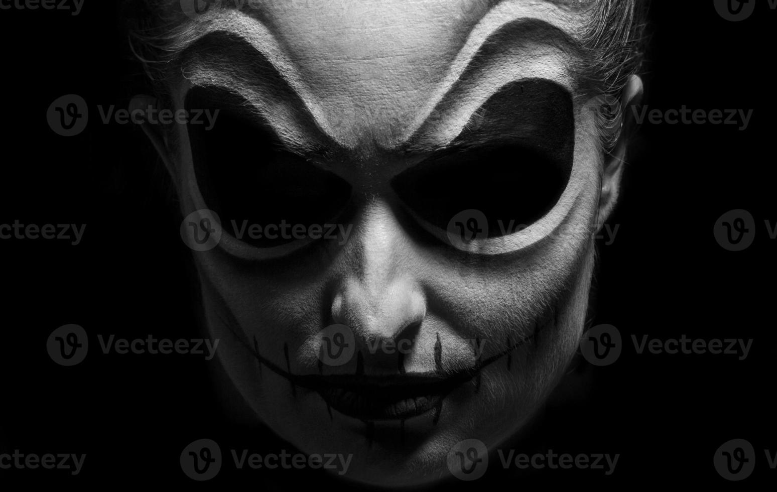 halloween face photo