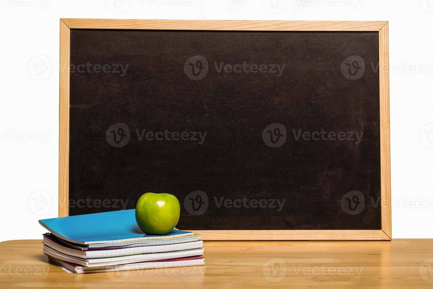 Black chalk board with copy space photo