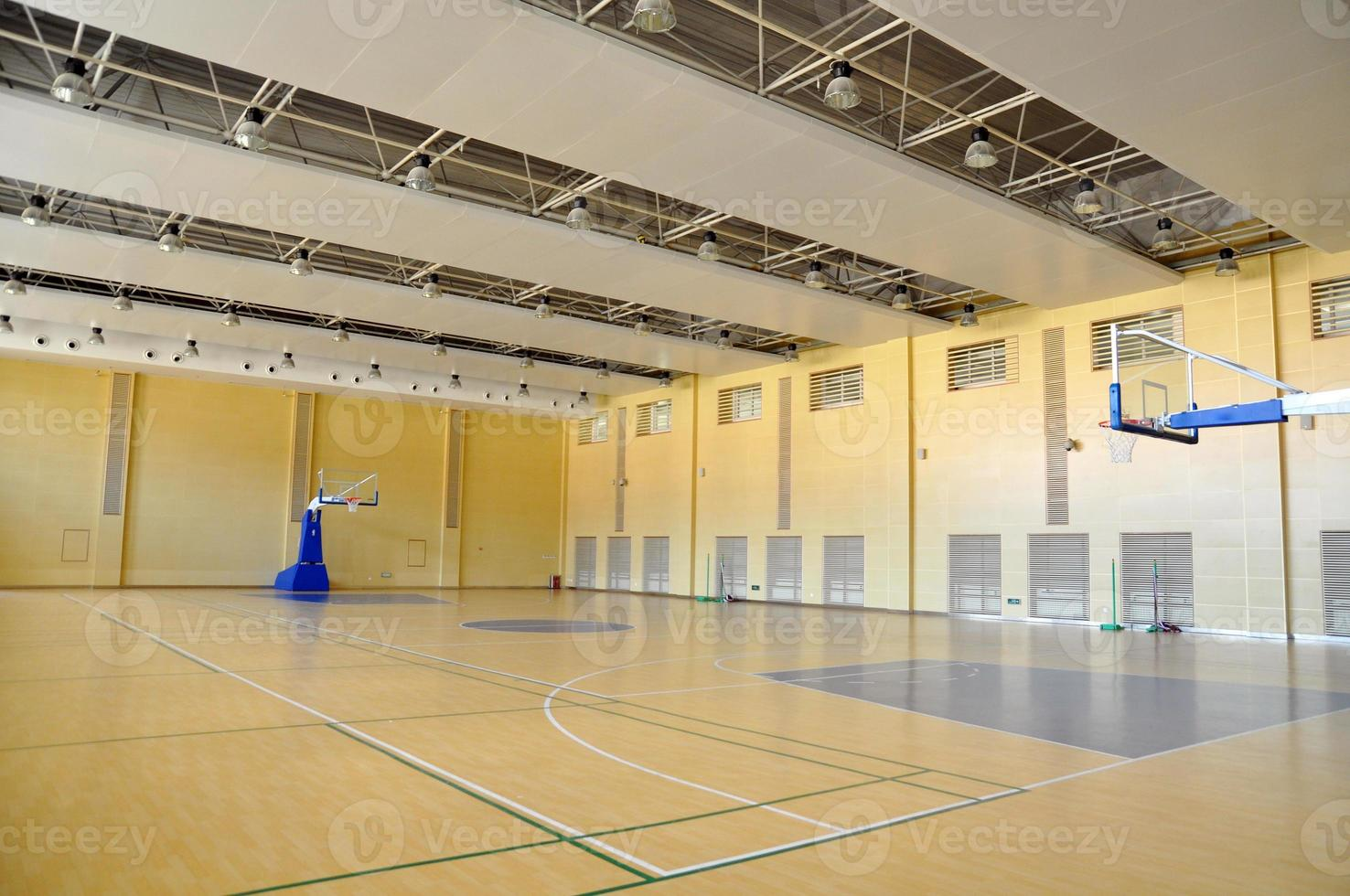 Indoor basketball court photo