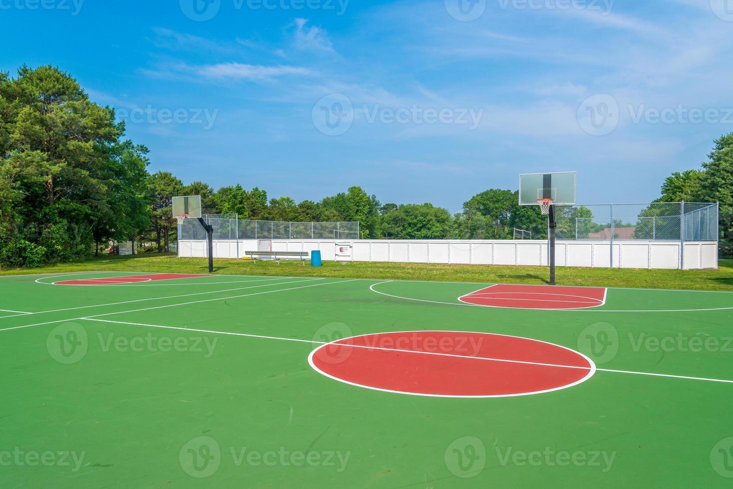 Basketball field photo