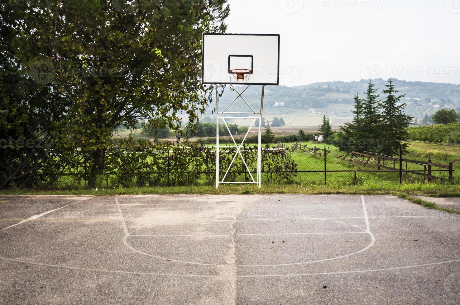 cancha de baloncesto foto