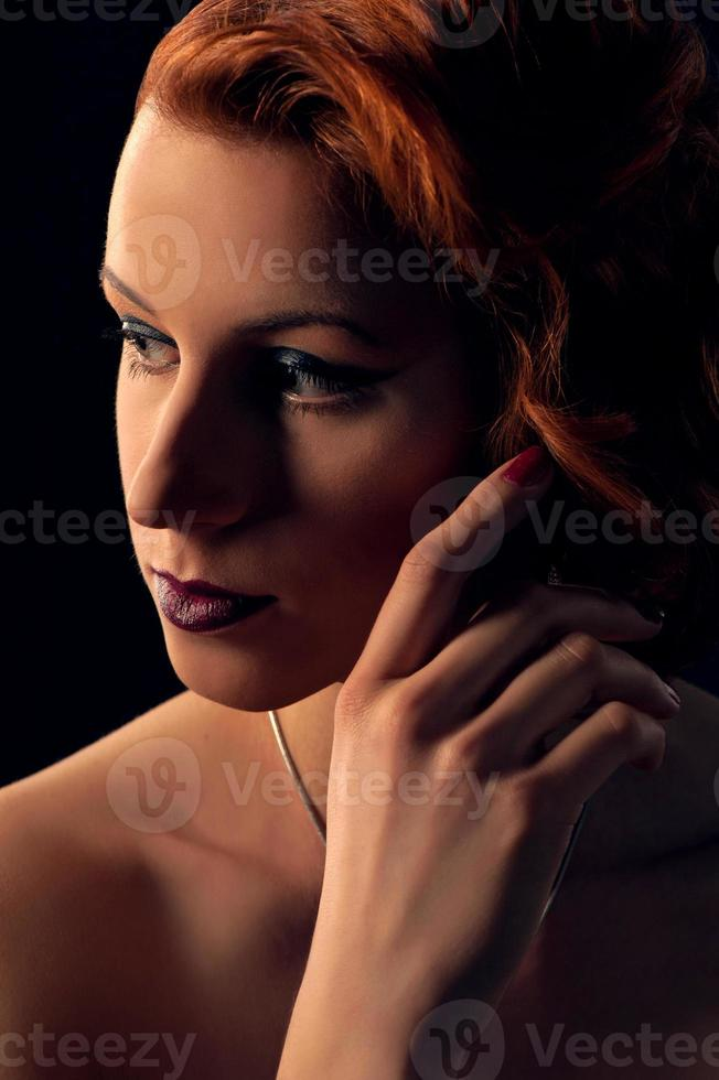 cara de mujer glamour foto