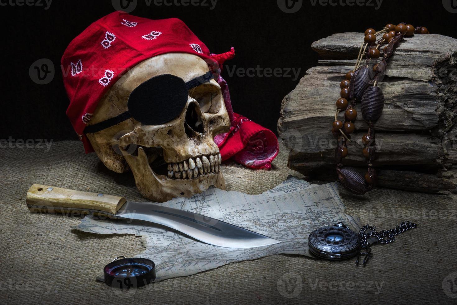 Pirate skull photo