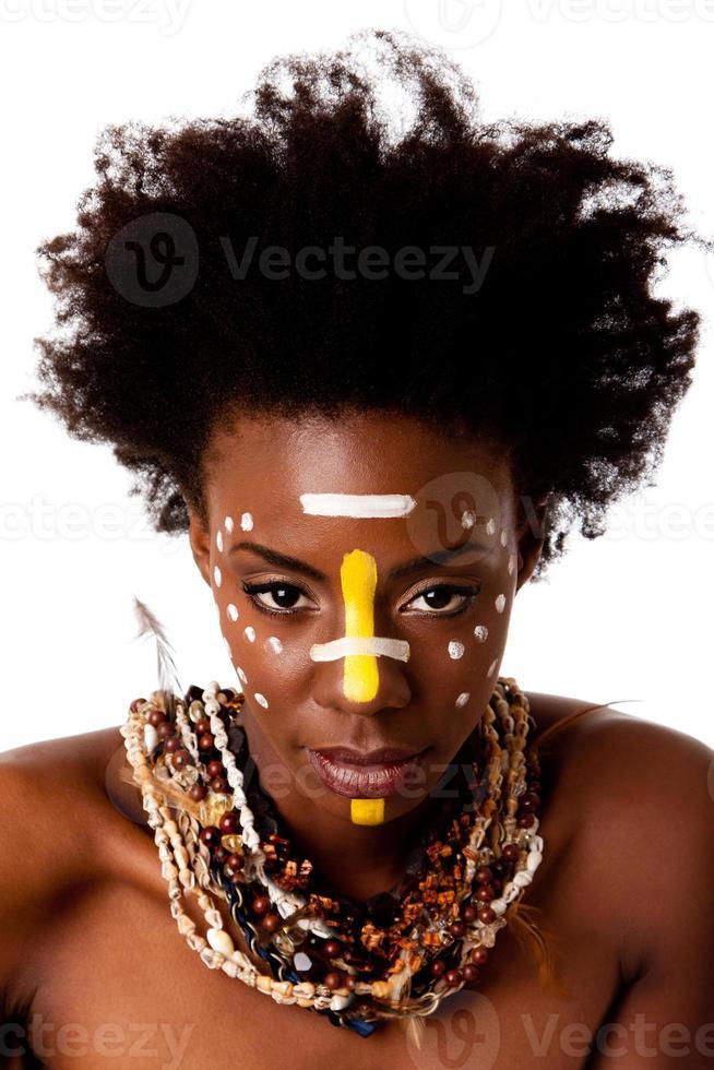 cara de belleza tribal africana foto