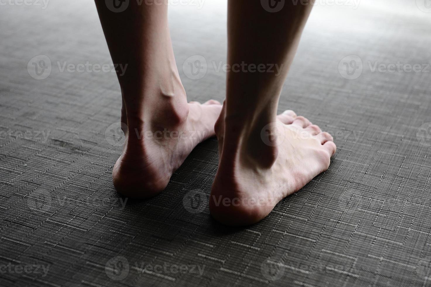 Women's legs, feet photo