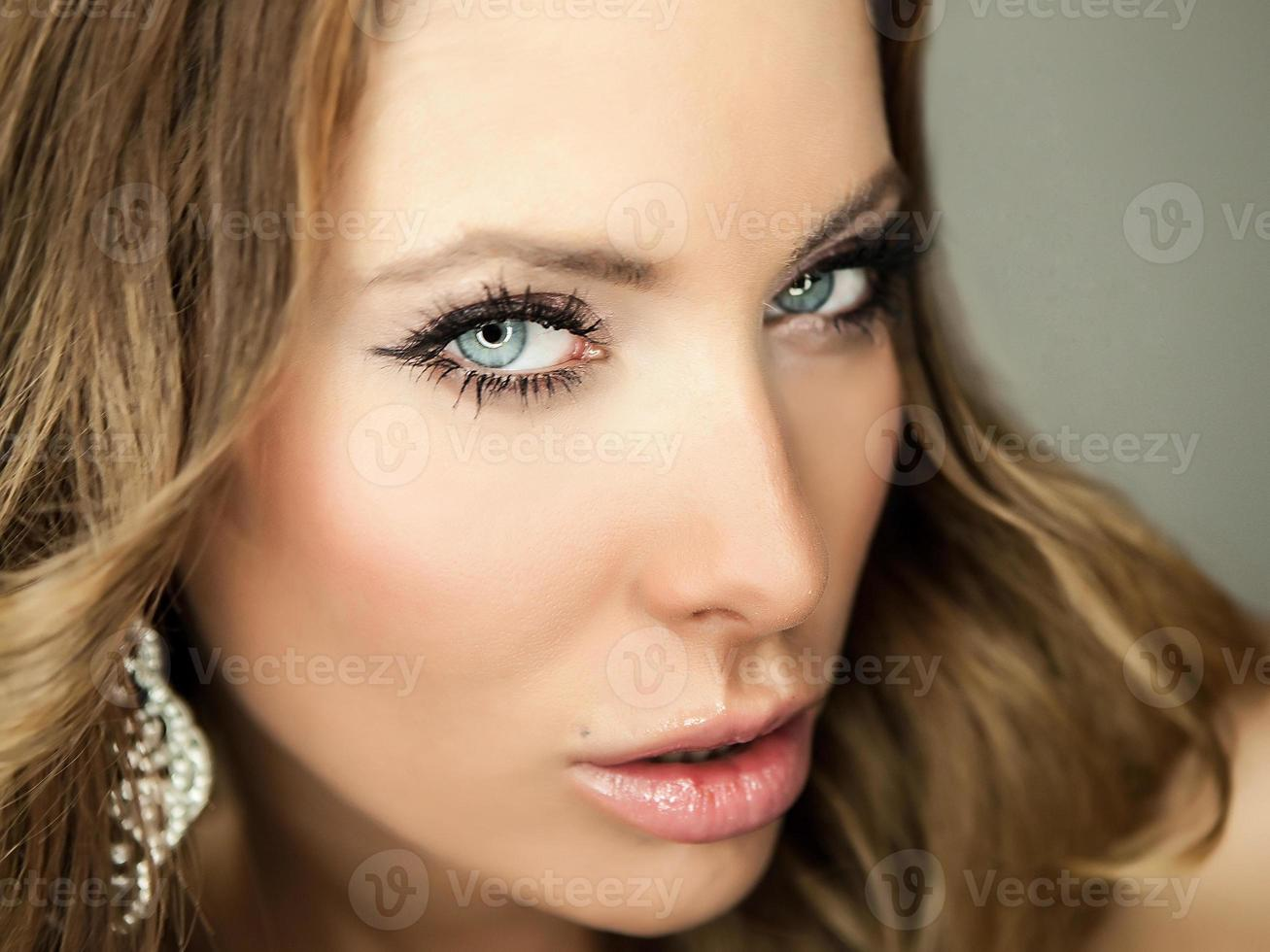 Portrait of a young beauty. Close-up Photo. photo