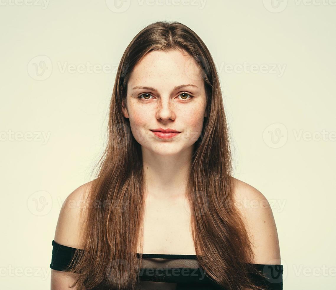 Beautiful woman face portrait young photo