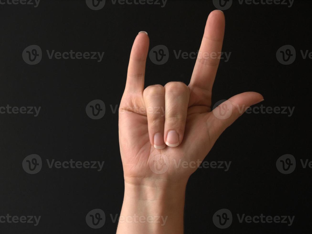 sign language - I love you photo
