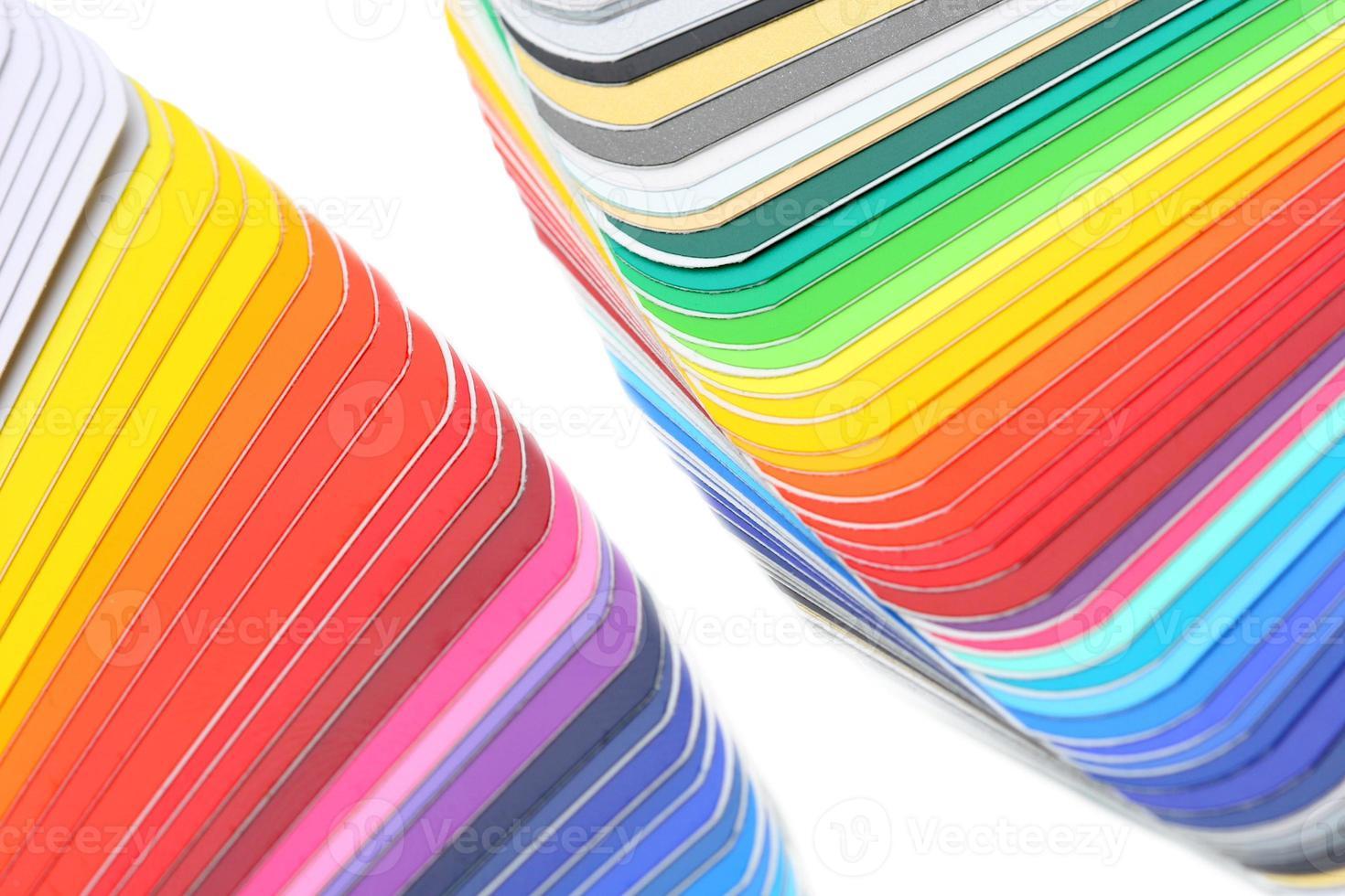 color guide close-up photo