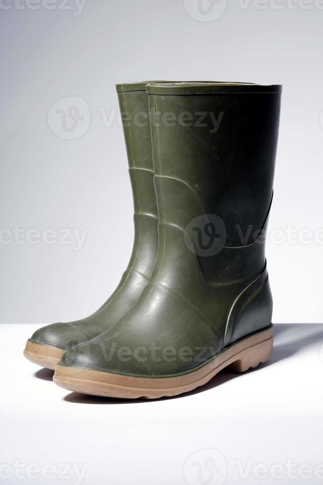 botas de goma, primer plano foto