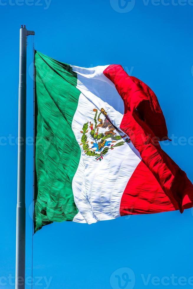Bandera mexicana de cerca foto