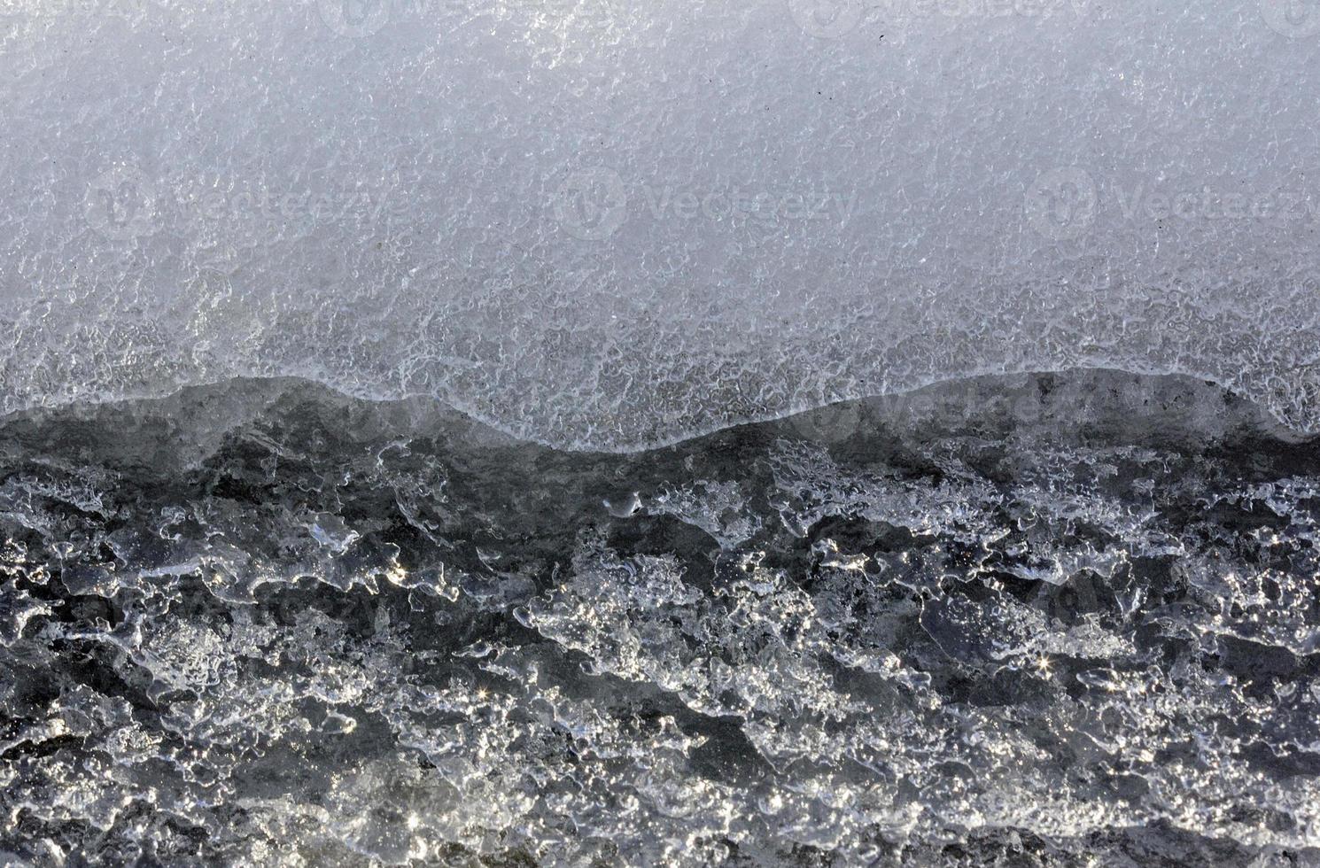 textura de primer plano de hielo foto