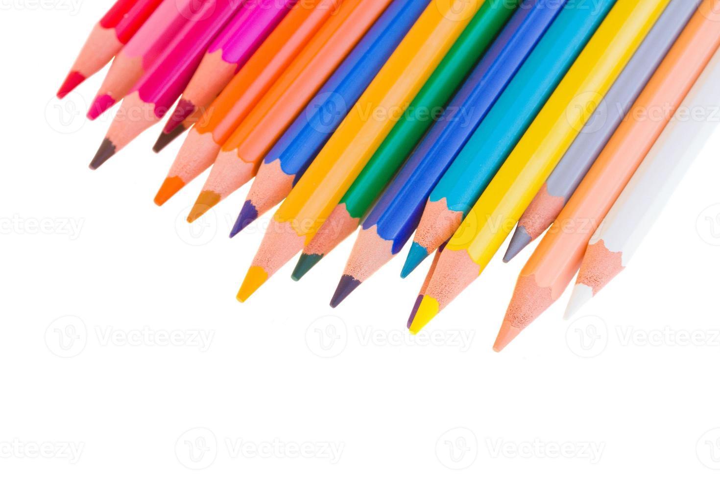 colorful pencils close up photo